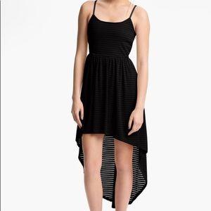 Nordstrom Sheer Stripe High Low Dress